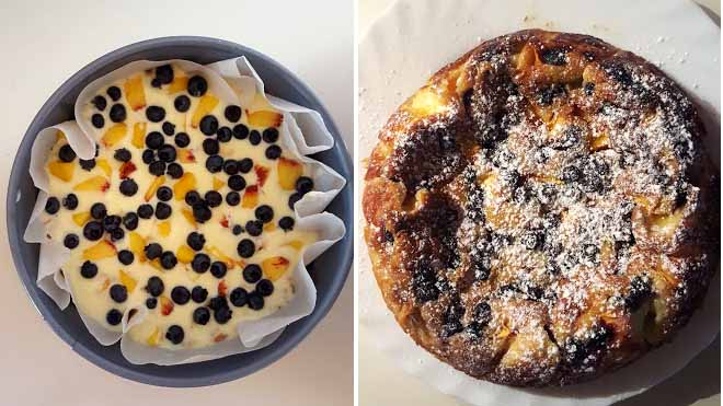 Cheesecake piemontese…una ricetta po' diversa del Cheesecake tradizionale. Prima e dopo.