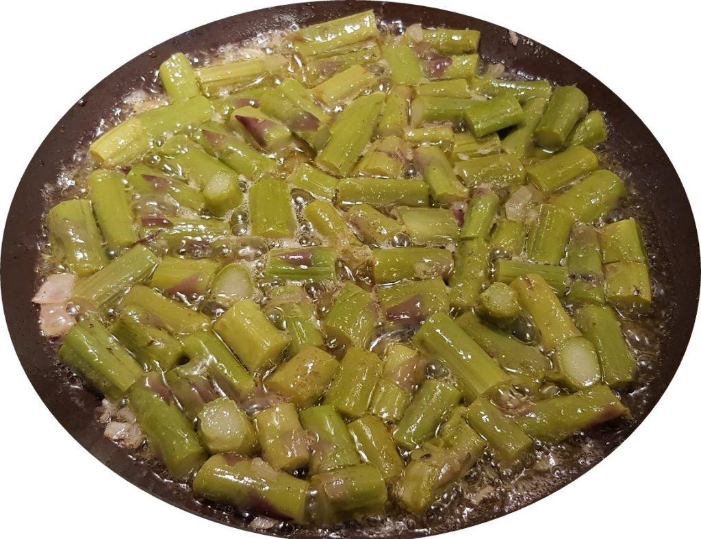 risotto asparagi e burrata