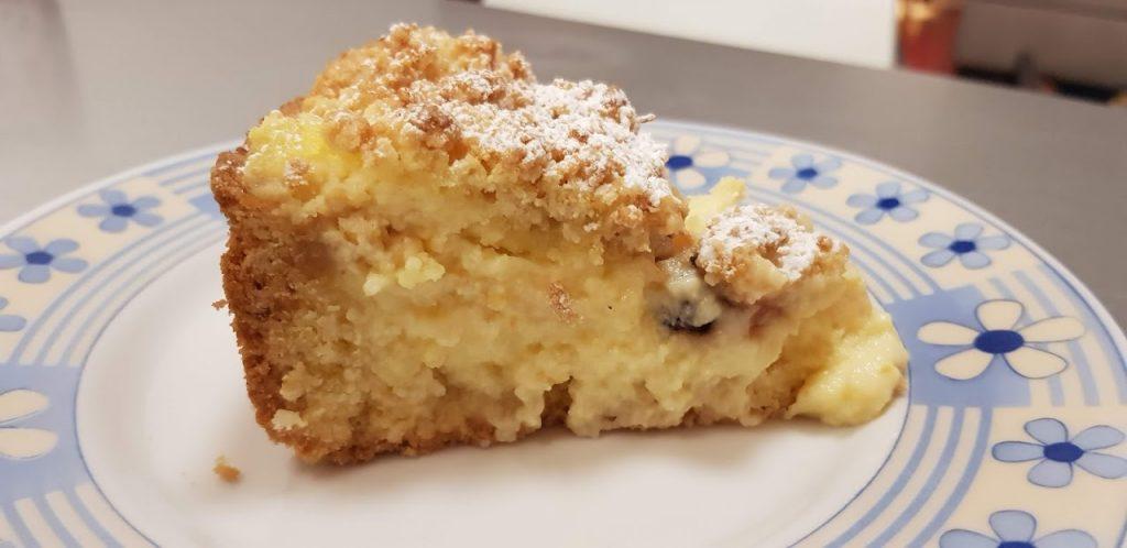 Torta Sbriciolata alla crema e amarene, torte facili con pasta frolla, crema pasticcera e amarene